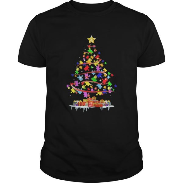 Autism Awareness Christmas Tree Shirt Shirt