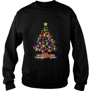 Autism Awareness Christmas Tree Shirt Sweater
