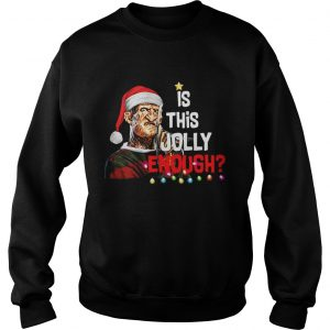 Freddy Krueger is this Jolly enough Christmas sweatshirt