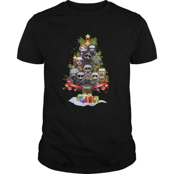 Horror Characters christmas tree shirt