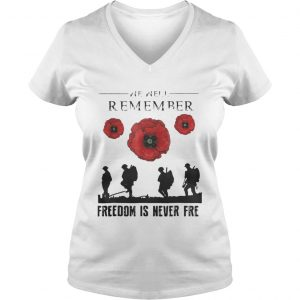 Official We are remember freedom is never free ladies v-neck