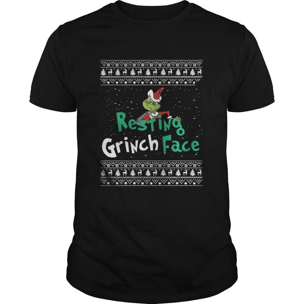 Resting Grinch Face Christmas Sweat shirt