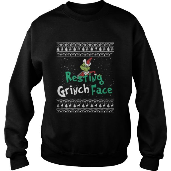 Resting Grinch Face Christmas Sweatshirt