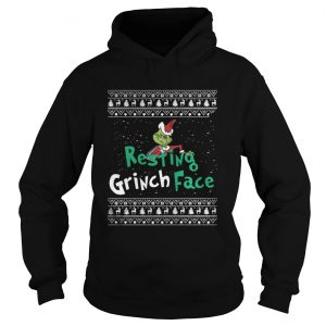Resting Grinch Face Christmas hoodie