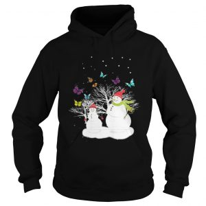 Snowman And Butterfly hoodie