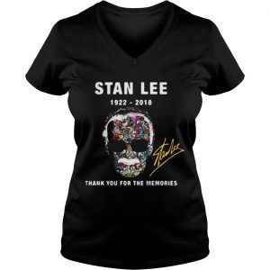 Stan Lee 1922 2018 thank you for the memories ladies v-neck