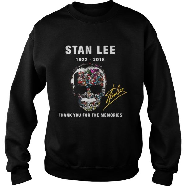 Stan Lee 1922 2018 thank you for the memories sweatshirt
