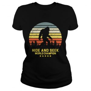 Hide and seek world champion vintage shirt Classic Ladies Tee