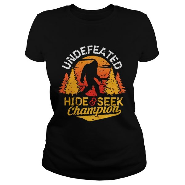 Undefeated hide and seek champion shirt Classic Ladies Tee