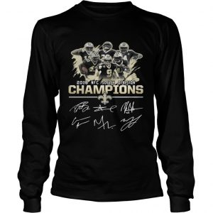 Official 2018 NFC south division champions New Orleans Saints shirt Longsleeve Tee Unisex