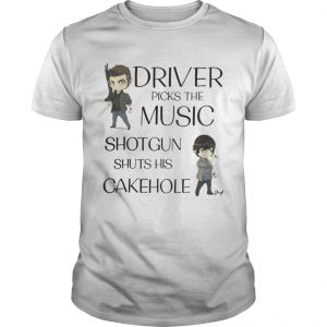 Driver picks the music shotgun shuts his cakehold shirt Shirt