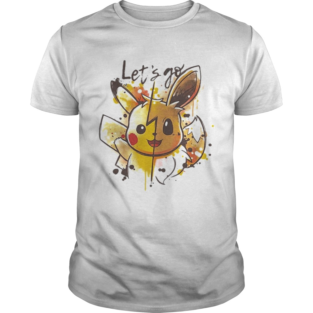 Pikachu and Eevee Lets go shirt