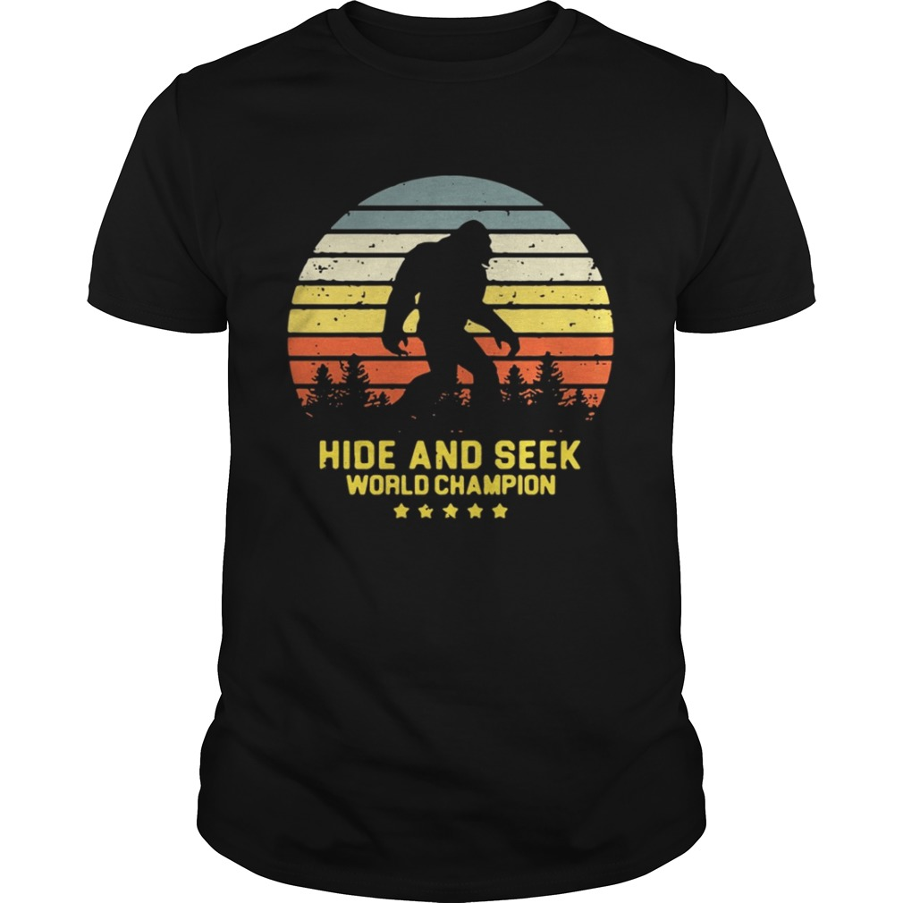 Hide and seek world champion vintage shirt