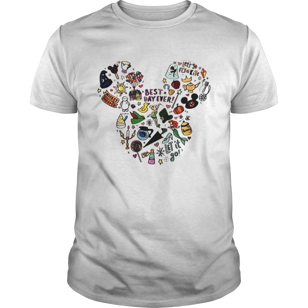 Multi character Mickey Mouse head shirt