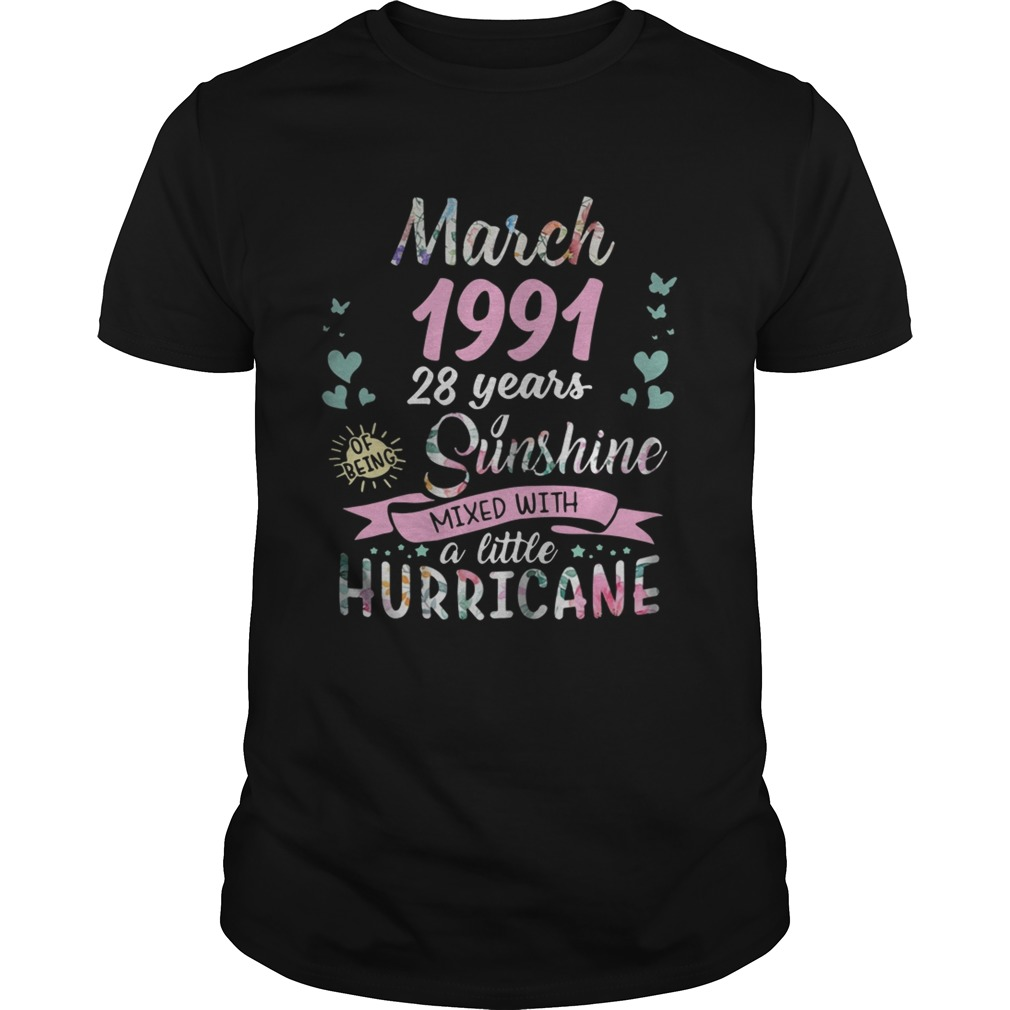 Flower March 1991 28 years sunshine mixed with a little hurricane shirt