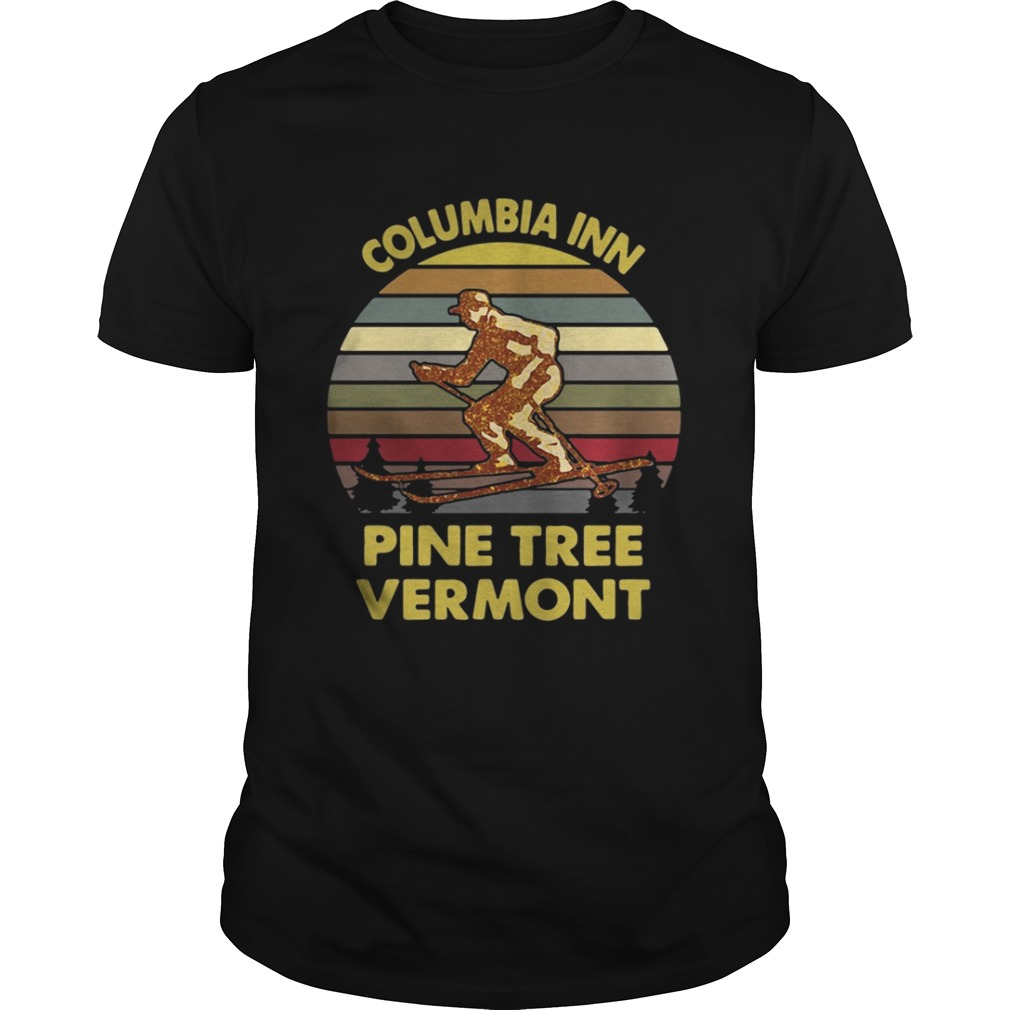 Columbia inn pine tree vermont vintage shirt