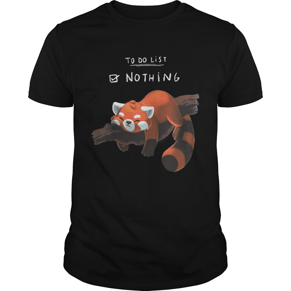 Red PandaLazy to do list shirt