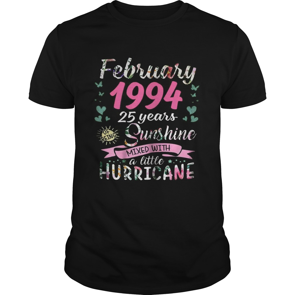 February 1994 25 years sunshine mixed with a little hurricane shirt