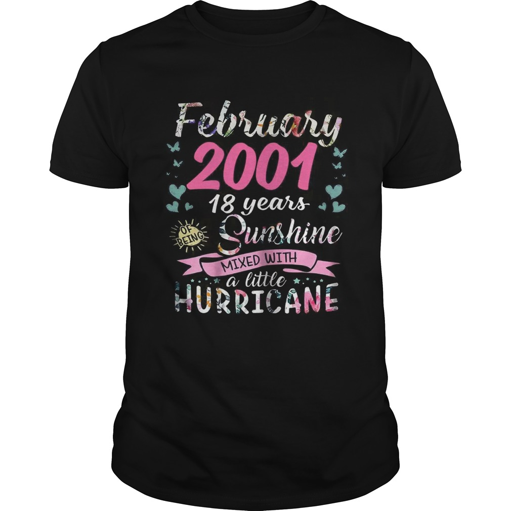 February 2001 18 years sunshine mixed with a little hurricane shirt
