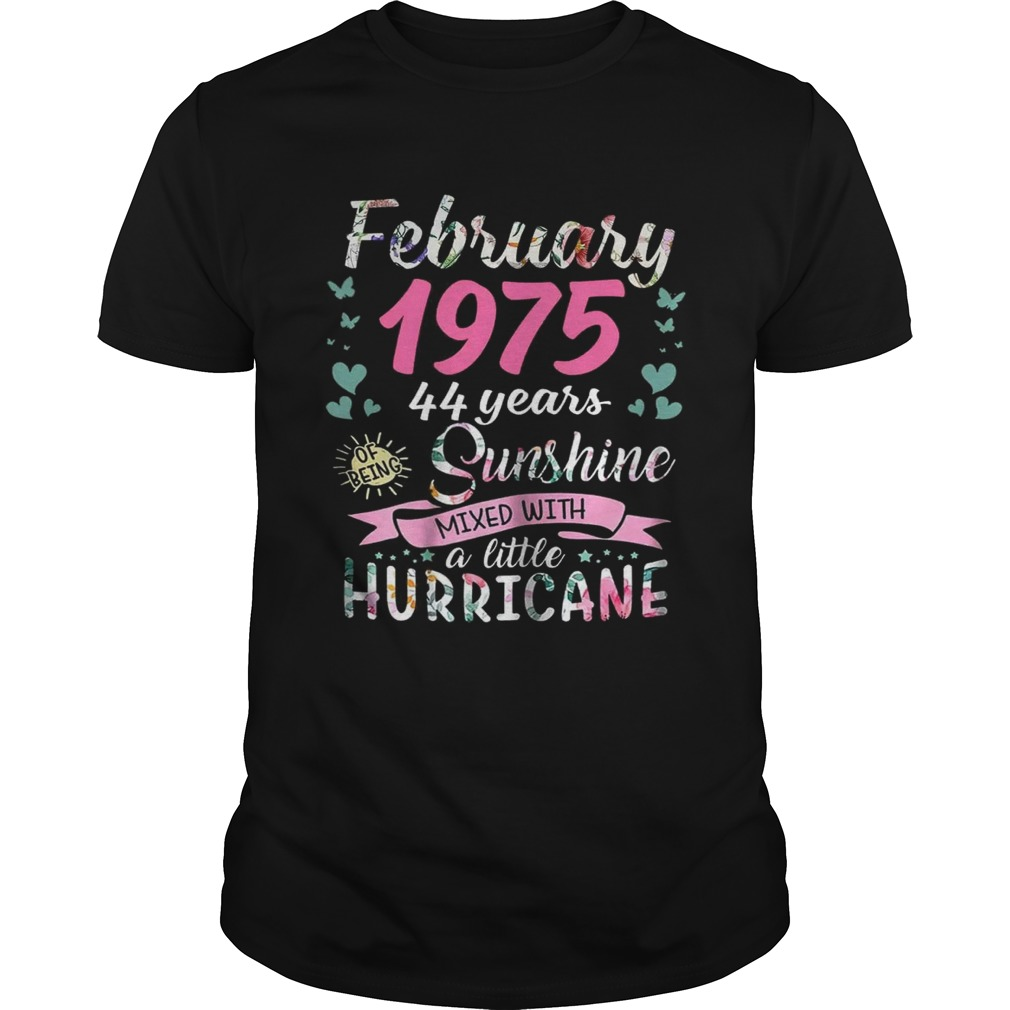 February 1975 44 years sunshine mixed with a little hurricane shirt
