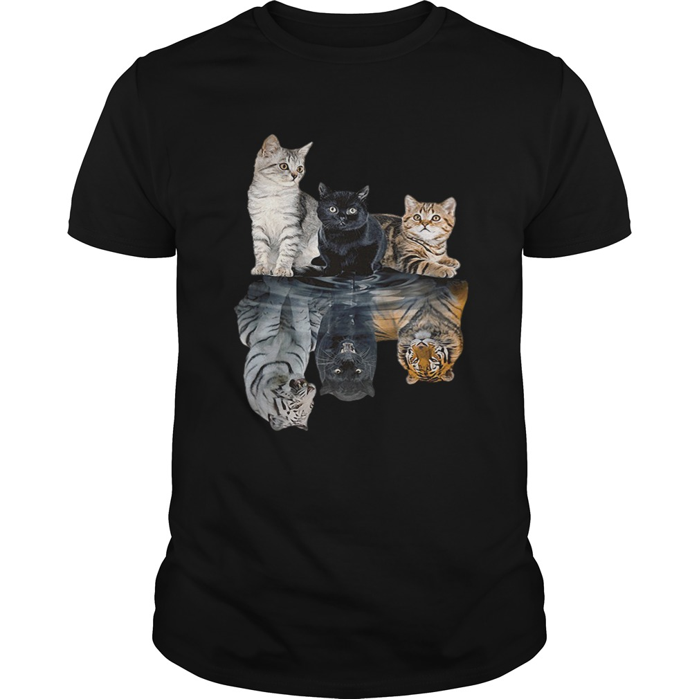 Cats reflection tigers shirt