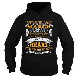 And God Said Let There Be March Girl Who Has Shirt Ladies V-Neck