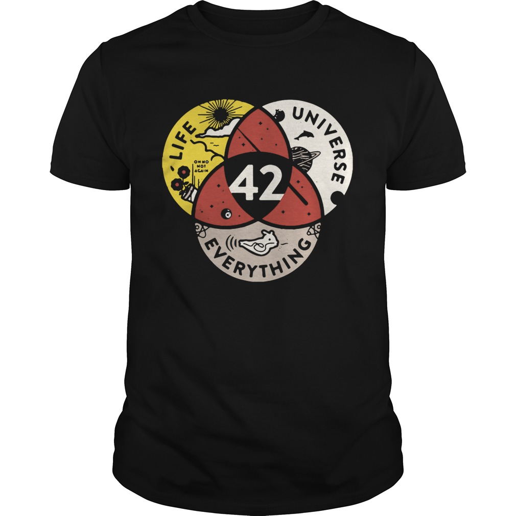42 the answer to life universe and everything tshirt