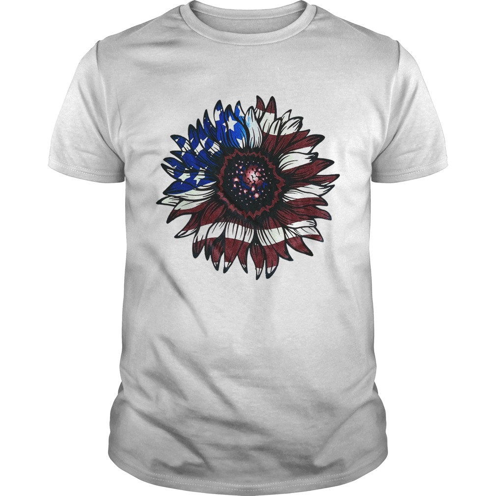 American flag sunflower tshirt