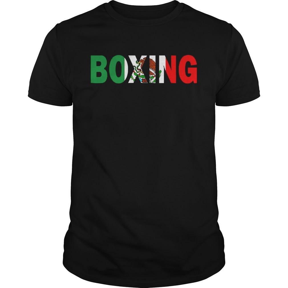 Boxing Mexico Flag tshirt