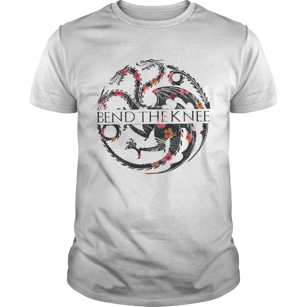 Flower Game of Thrones bend the knee tshirt