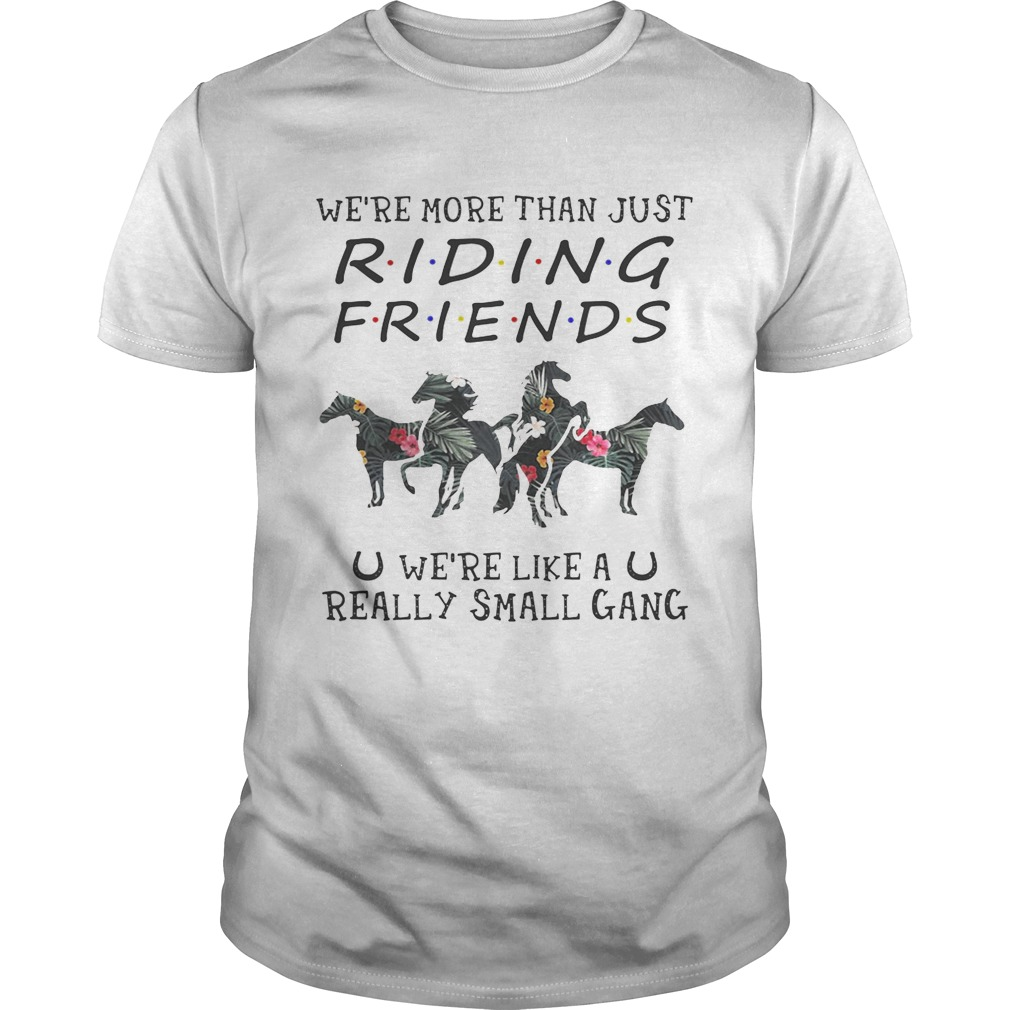 Flower We're more than just riding friends we're like a really small gang tshirt