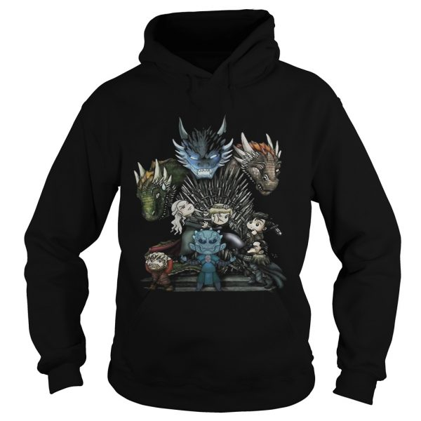 Game of Thrones Daenerys Targaryen Rhaegal and Viserion Chibi hoodie