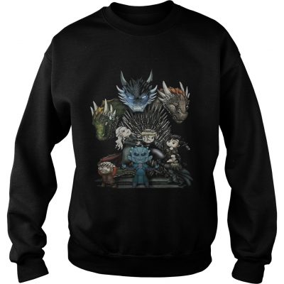 Game of Thrones Daenerys Targaryen Rhaegal and Viserion Chibi sweatshirt