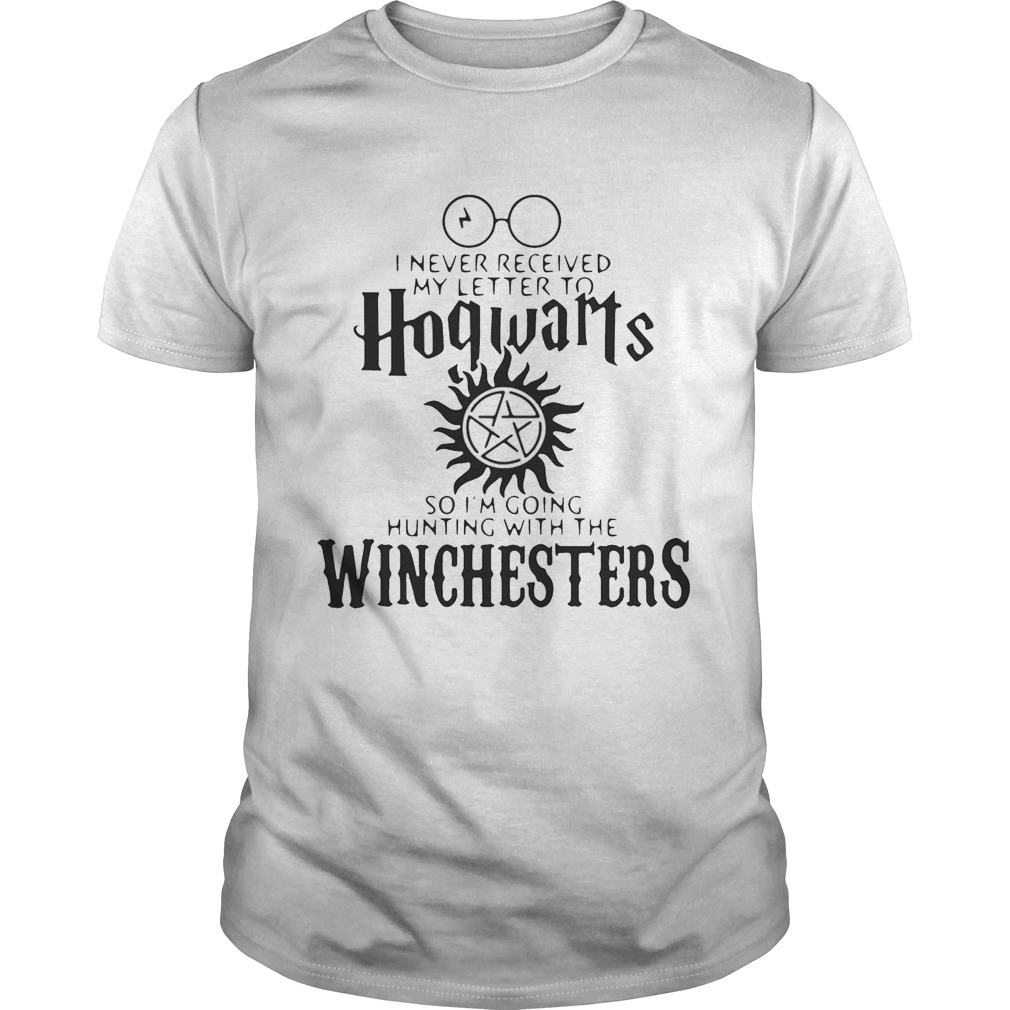 I never received my letter to Hogwarts so I'm going hunting with the Winchesters tshirt