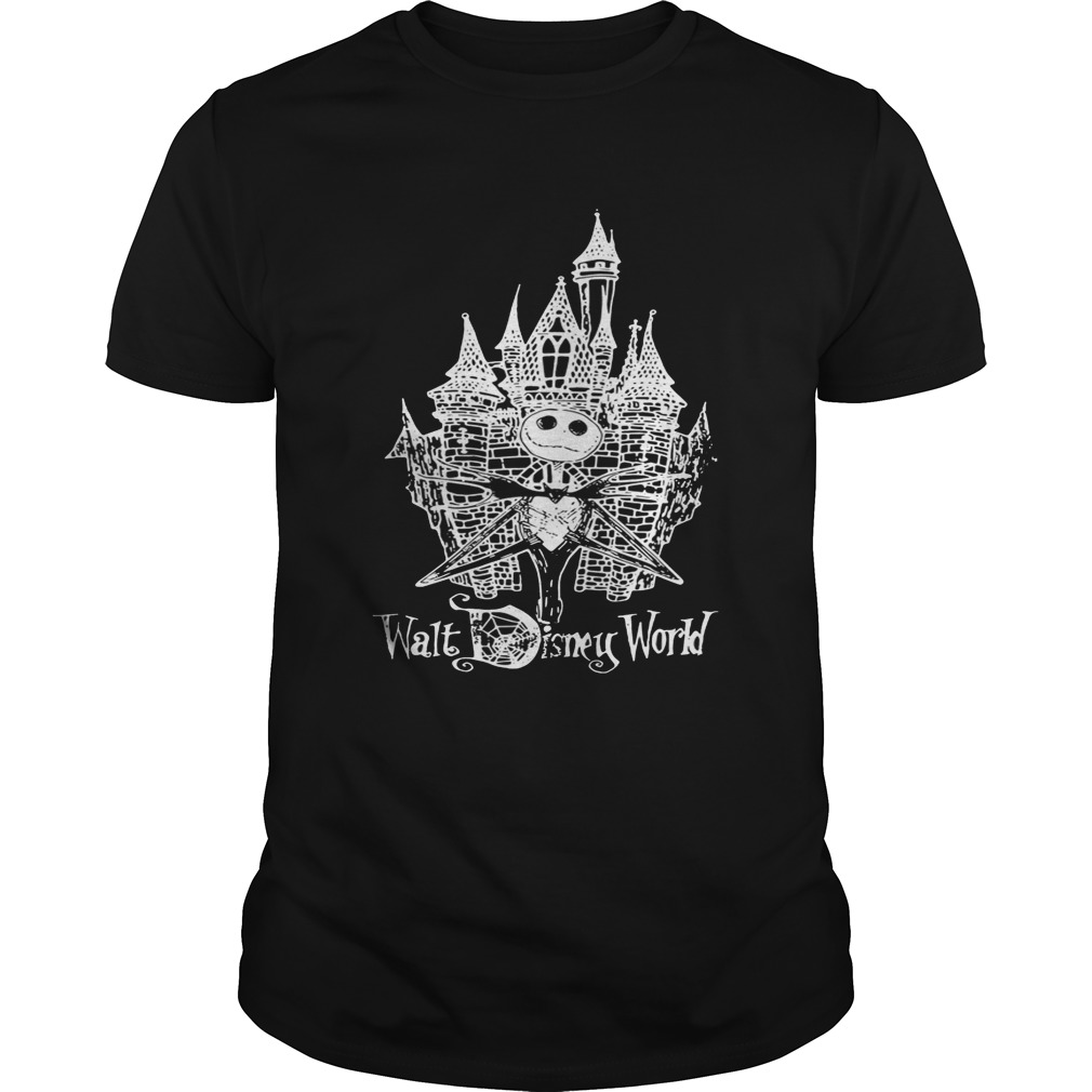 Jack Skellington at Cinderella Castle tshirt