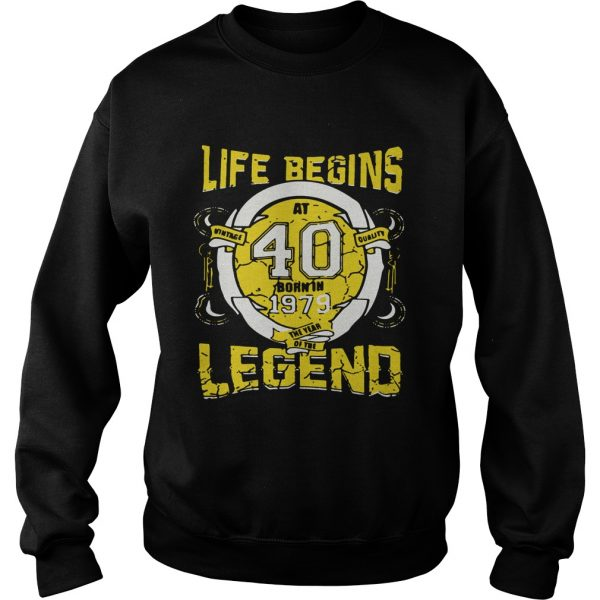 Life begins at 40 born in 1979 the year of the legend Sweater