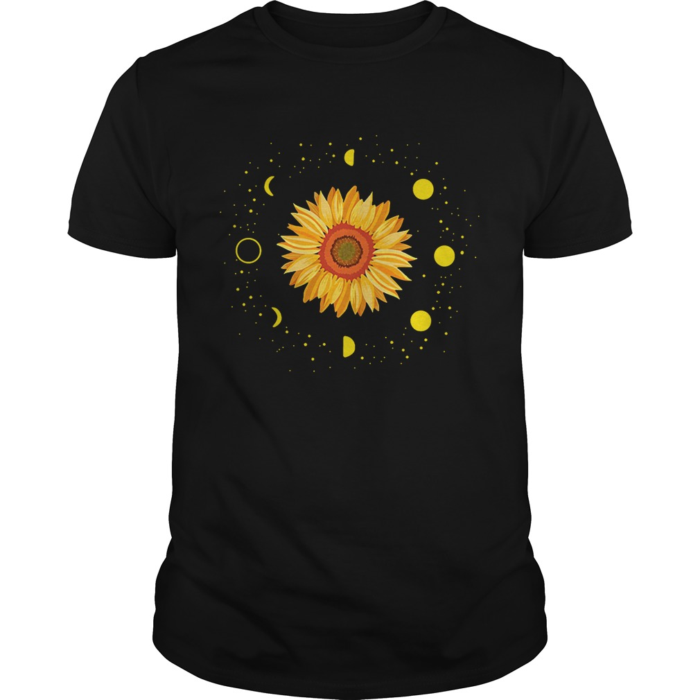 Moon phases sunflower tshirt