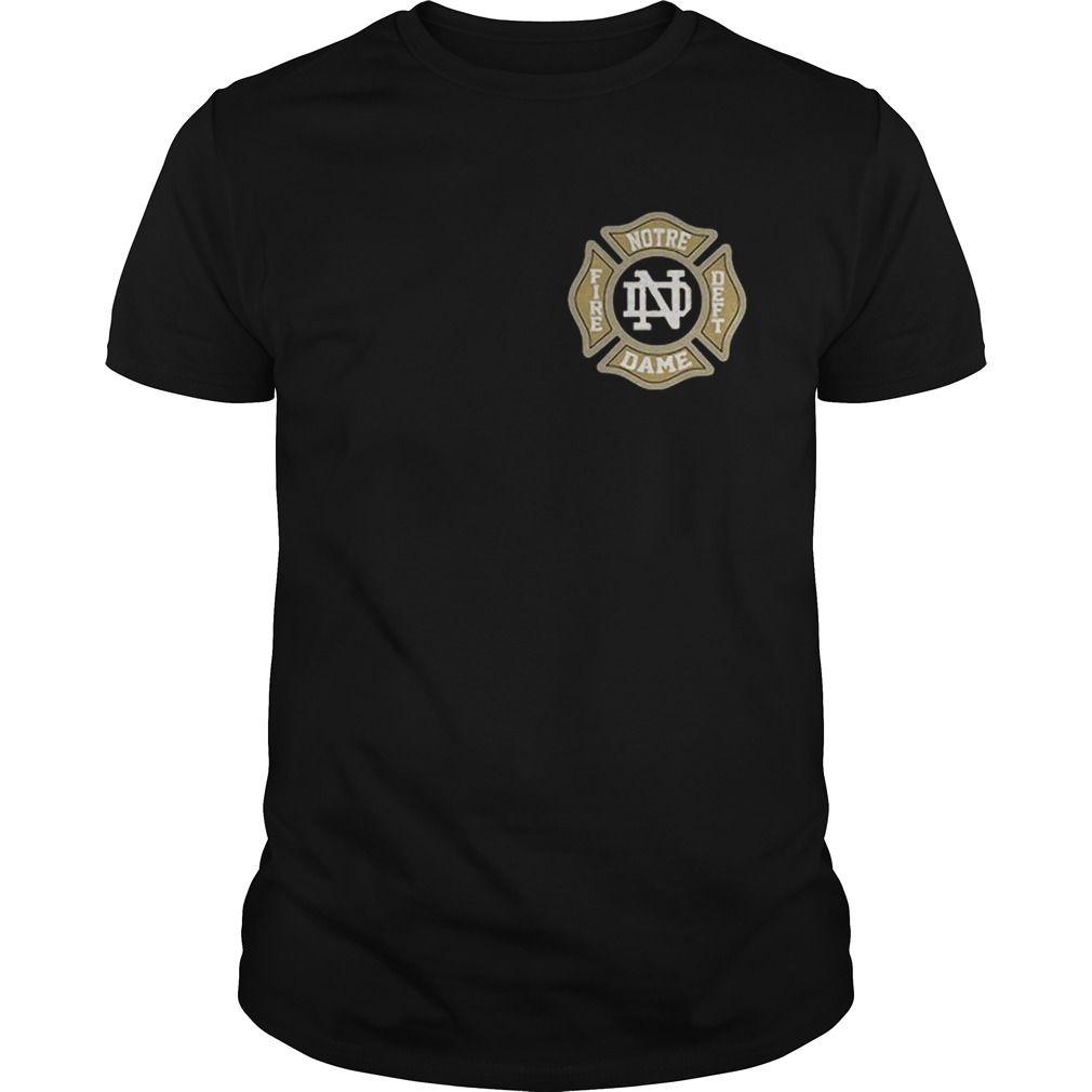 Notre Dame Fire Department Truoc Shirt