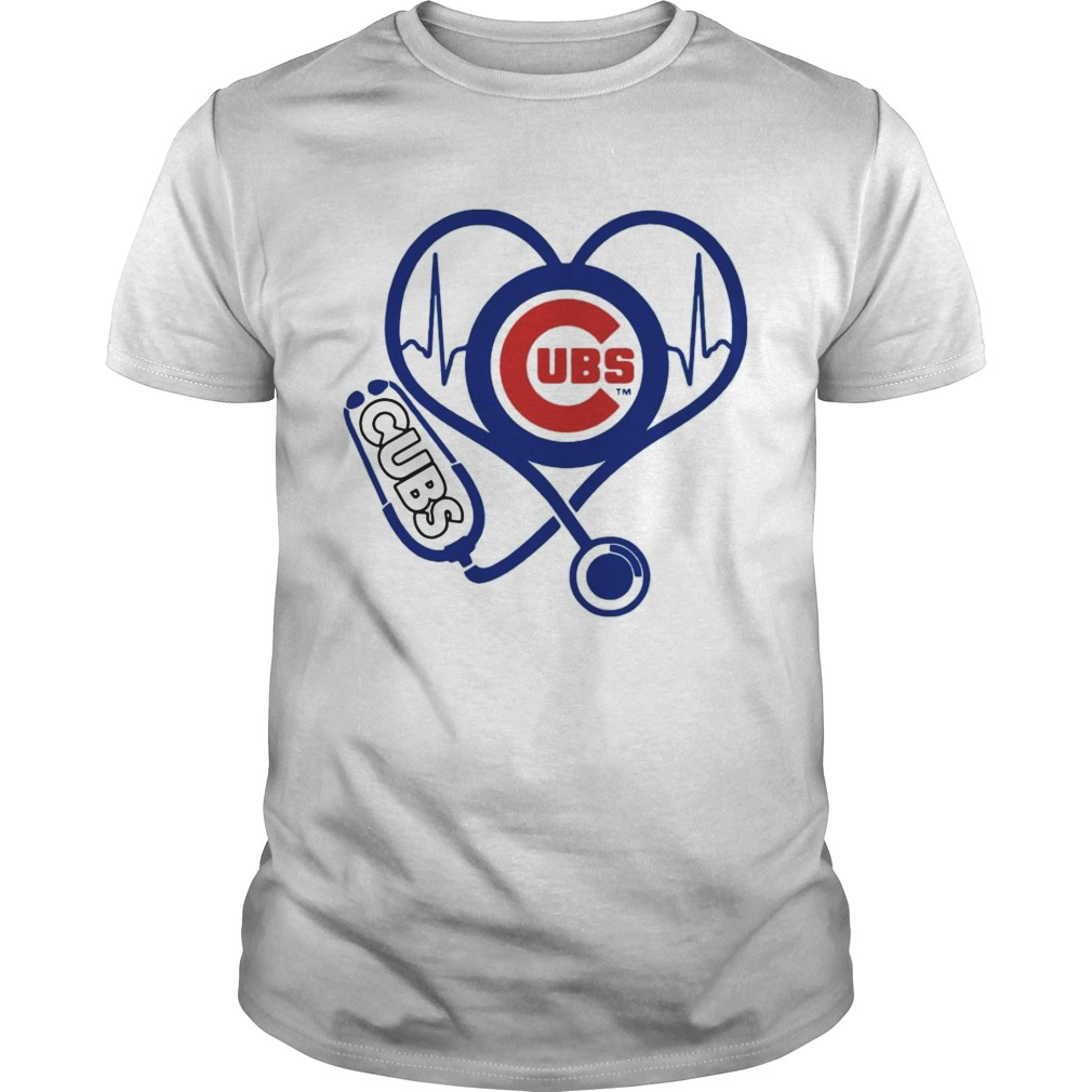 Nurse loves Chicago Cubs stethoscope shirts