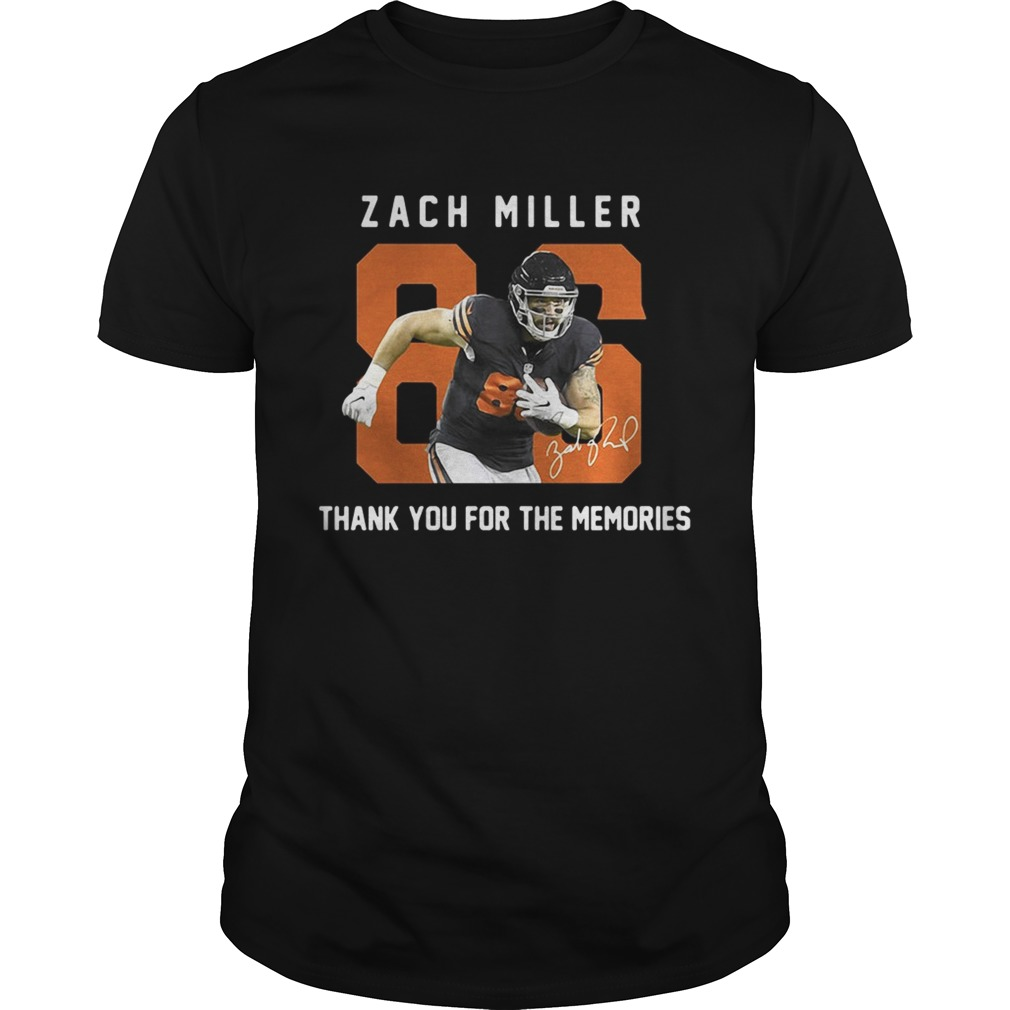 Zach Miller thank you for the memories tshirt