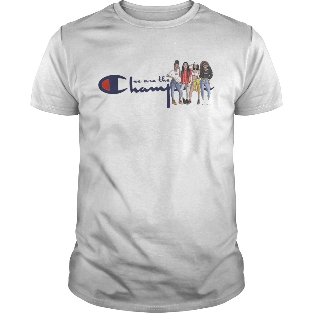 African American girl we are the champions shirt