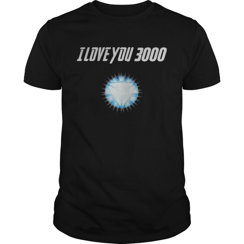 Avengers Endgame I love you 3000 Iron Man tshirt