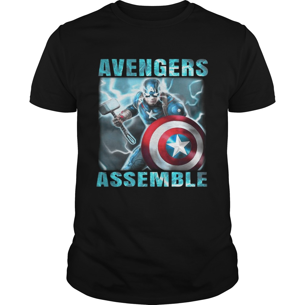 Avengers assemble Captain America shirts
