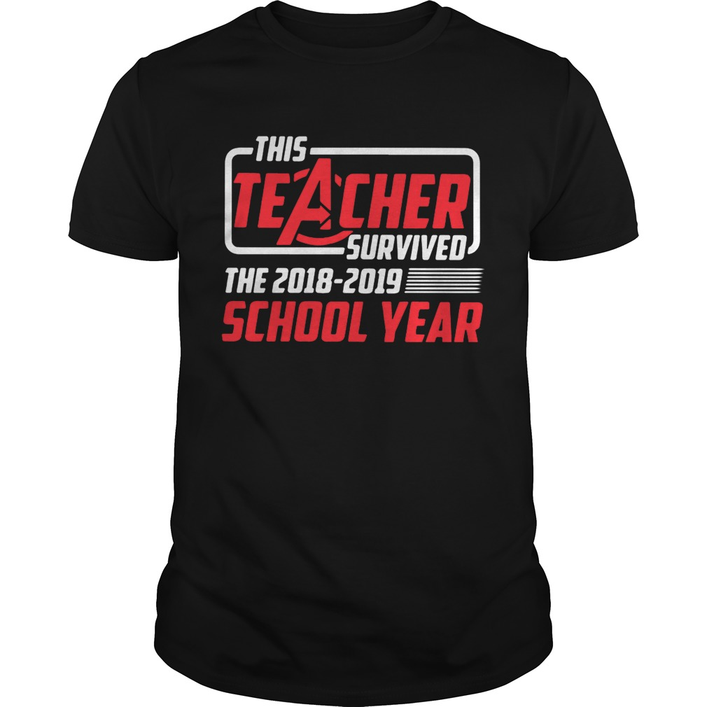 Avengers this teacher survived the 2018 2019 school year tshirt