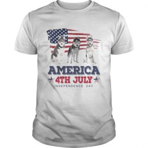 Cool Husky America 4th July Independence Day Tshirt