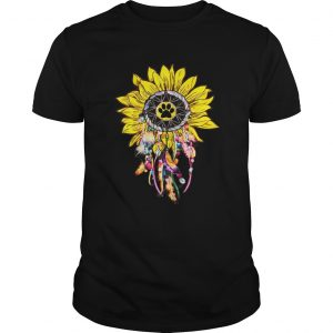 Dreamcatcher Sunflower Dog Paw T-shirt