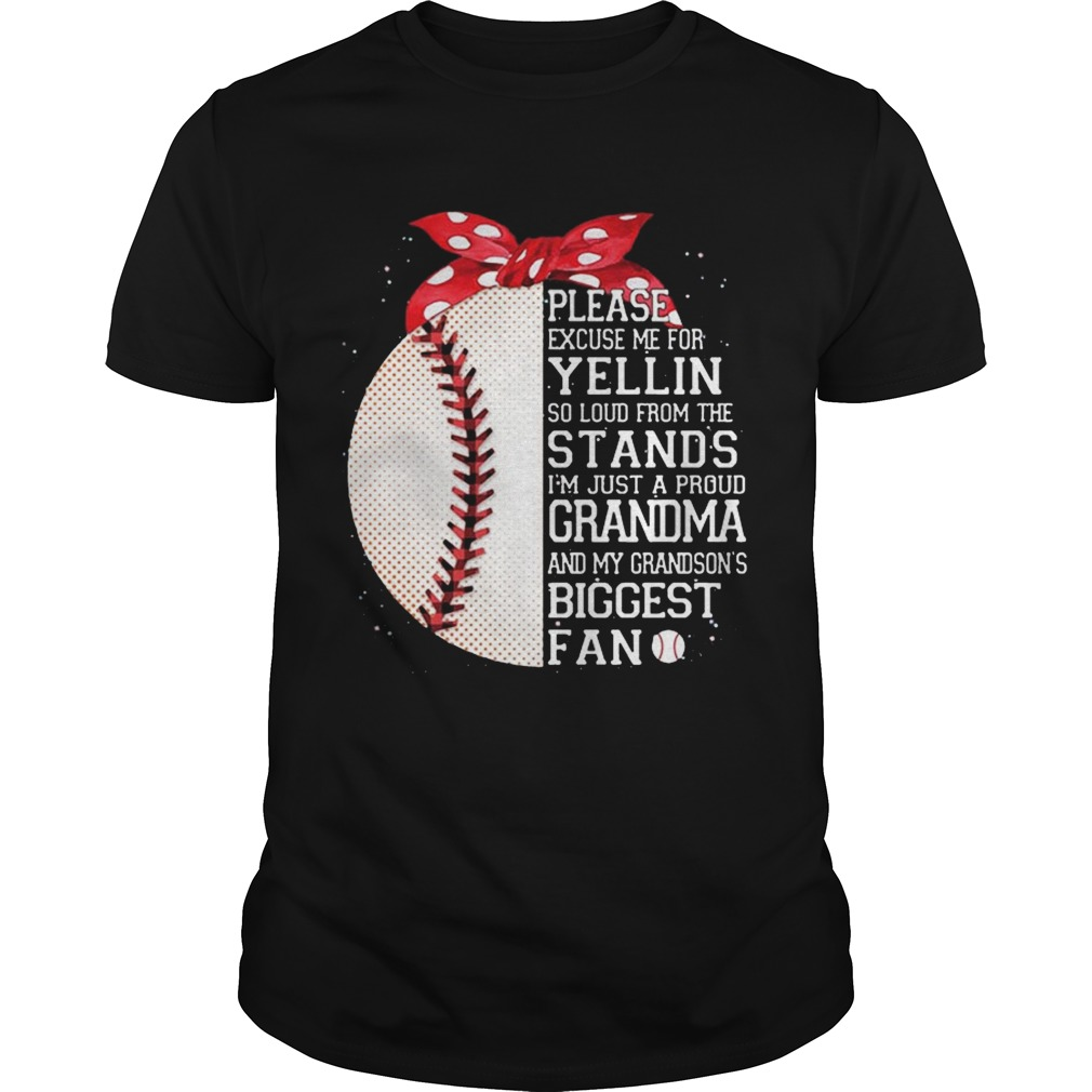I'm Just A Proud Grandma And My Grandson's Biggest Baseball Fan Tshirt