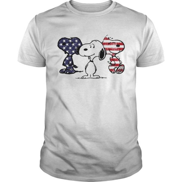 Independence day 4th of July Snoopy beauty America flag shirt