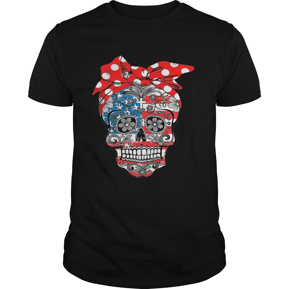Lady Christian sugar skulls tshirt