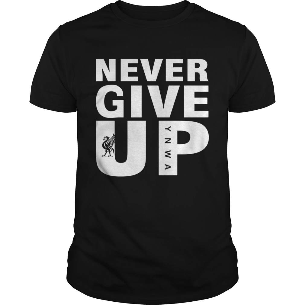 Mohamed Salah Never give up FC Liverpool shirt